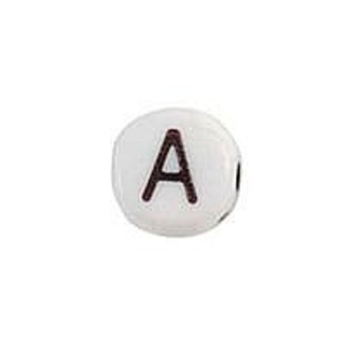 20 pieces Alphabet Bead A