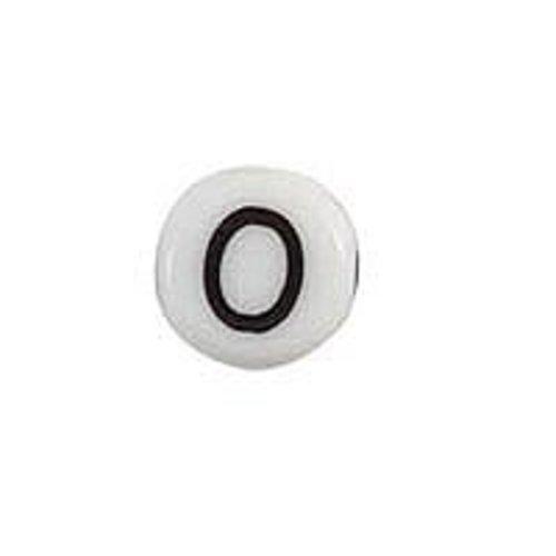 20 pieces Letter Bead Acrylic Zwatr White 7mm O