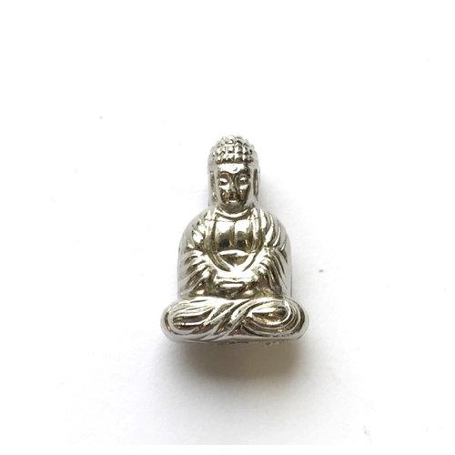 3 stuks Buddha Kraal Zilver 20x13mm