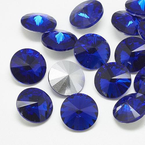 Rivoli Pointstone 12mm Sapphire