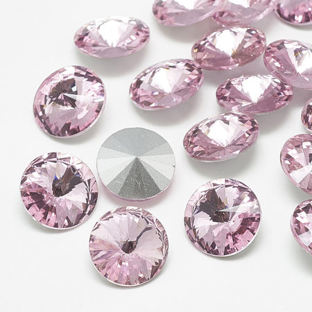 Rivoli Pointstone 12mm Light Rose
