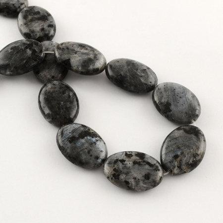 3 pieces Natural Labradorite Beads 25x18mm