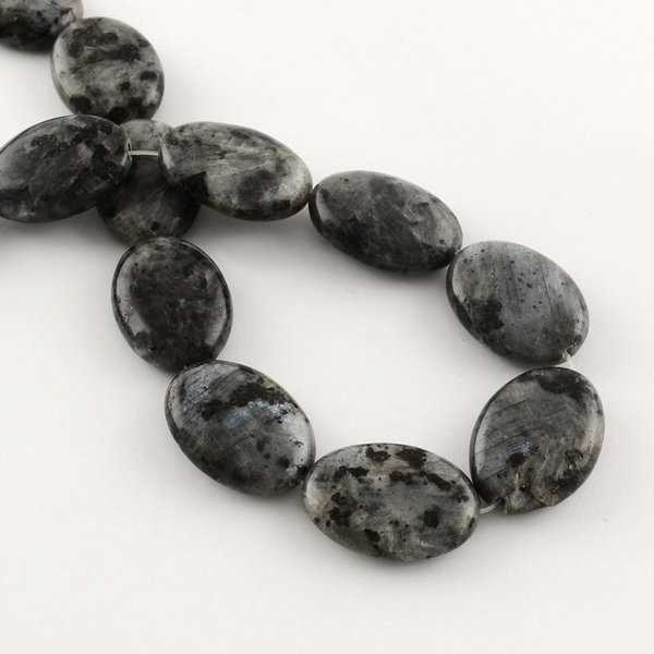 Natural Labradorite Beads 25x18mm, 3 pieces