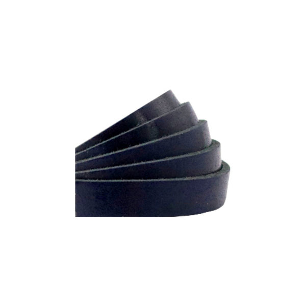 60cm Flat Leather Designer Quality 10mm Navy Blue