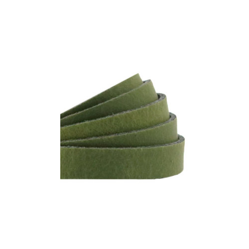 60cm Real Leather DQ 10mm Green