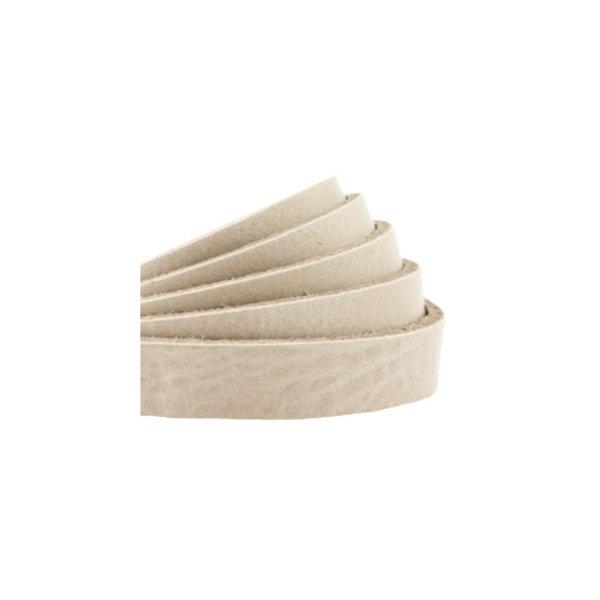 60cm Flat Leather Designer Quality 10mm Beige