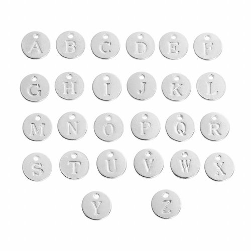Initial Charm Silver 12mm Letter 'S'