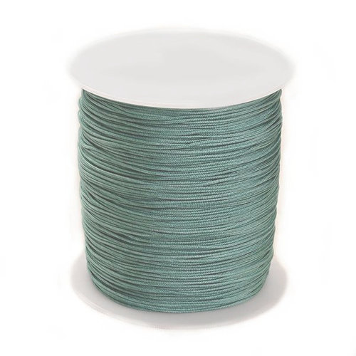 5 meter Macramecord 1mm Gray Green