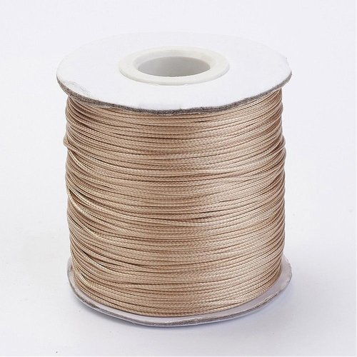 5 meter Waxed Cord 0.8mm Camel