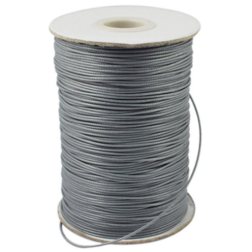 5 meter Waxed Cord 0.8mm Gray