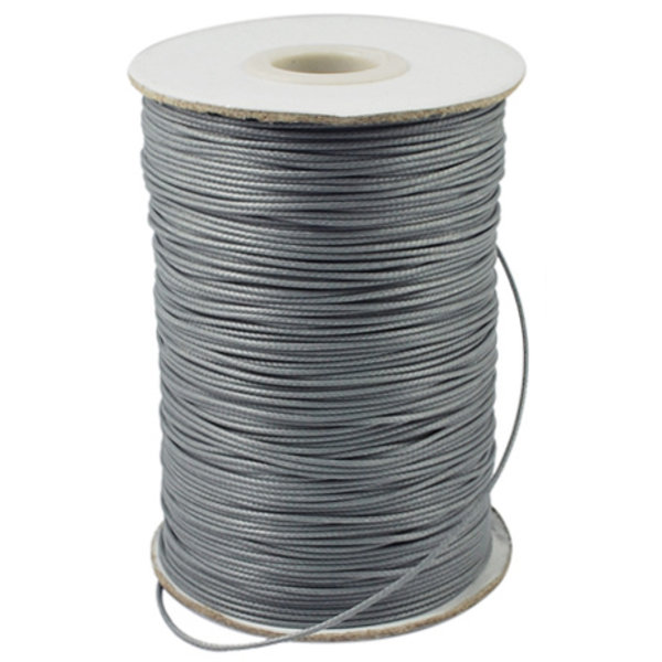 5 meter Waxed Cord 0.5mm Gray