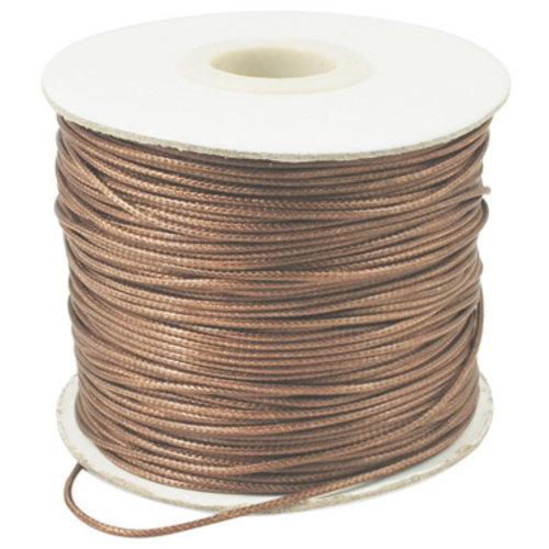 5 meter Waxed Cord 0.8mm Brown