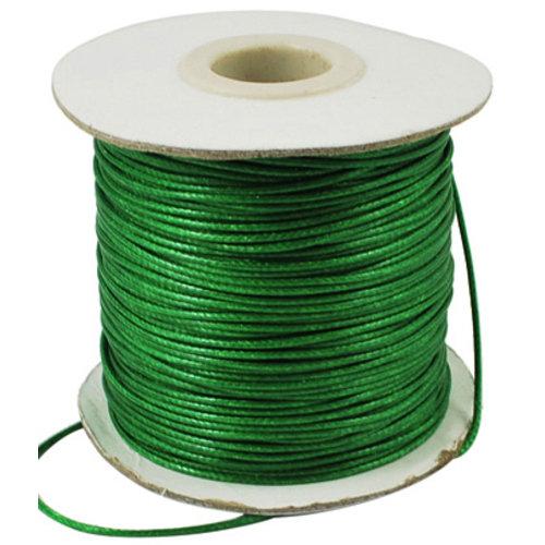 5 meter Waxkoord 0.5mm Groen