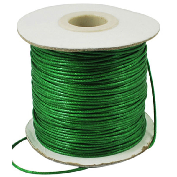 5 meter Waxed Cord 0.5mm Green