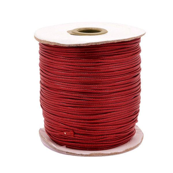 5 meter Waxed Cord 0.5mm Red