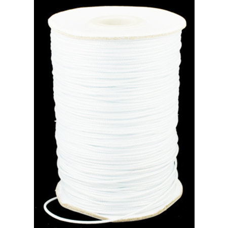 5 meter Waxed Cord 0.8mm White