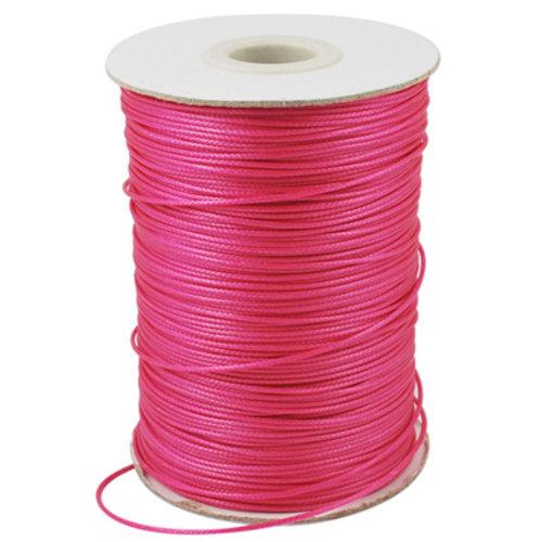 5 meter Waxed Cord 0.8mm Neon Pink