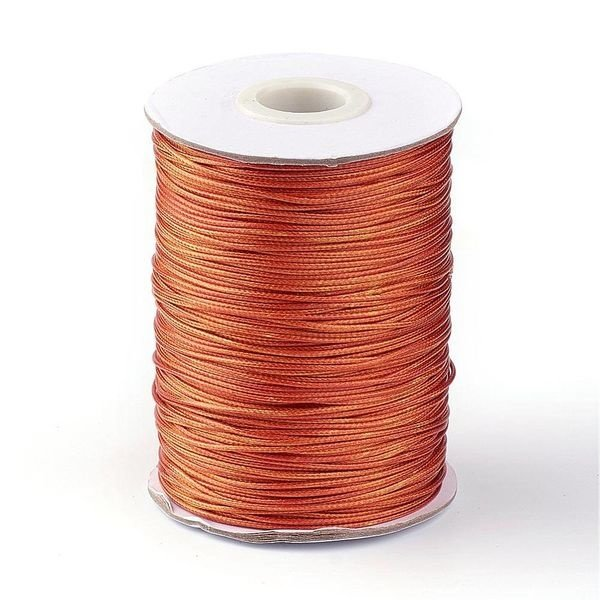 5 meter Waxed Cord 0.5mm Copper