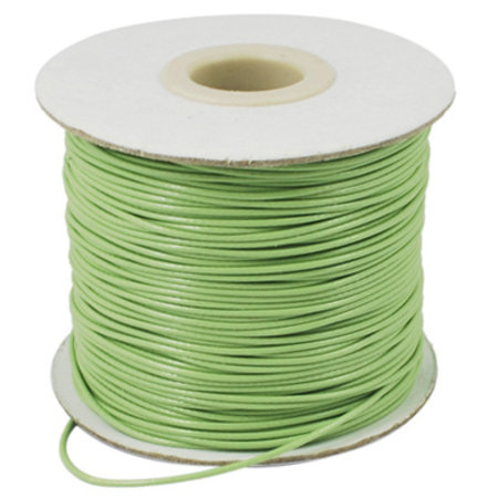 5 meter Waxed Cord 0.8mm Pastel Green