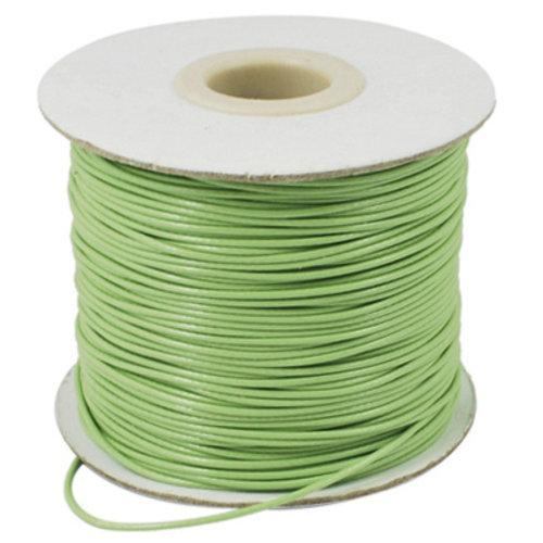 5 meter Waxkoord 0.5mm Pastel Groen