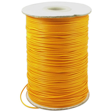 5 meter Waxed Cord 0.5mm Orange
