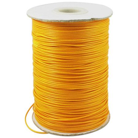 5 meter Waxed Cord 0.8mm Orange