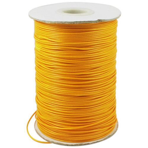 5 meter Waxed Cord 0.5mm Orange