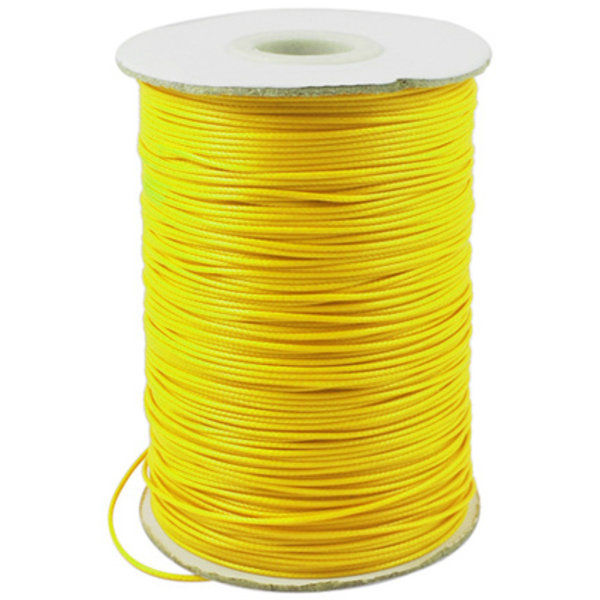 5 meter Waxed Cord 0.8mm Yellow