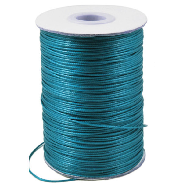 5 meter Waxed Cord 0.8mm Petrol