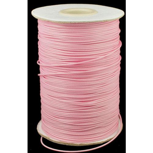 5 meter Waxkoord 0.5mm Roze