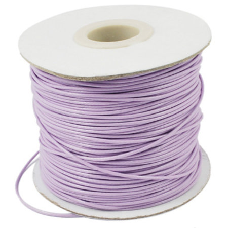 5 meter Waxed Cord 0.5mm Lilac