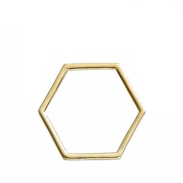 Honeycomb Tussenzetsel Goud 22x20mm, 6 stuks