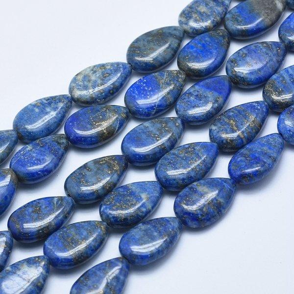 3 stuks Natural Lapis Lazuli Druppelkralen 19x13mm
