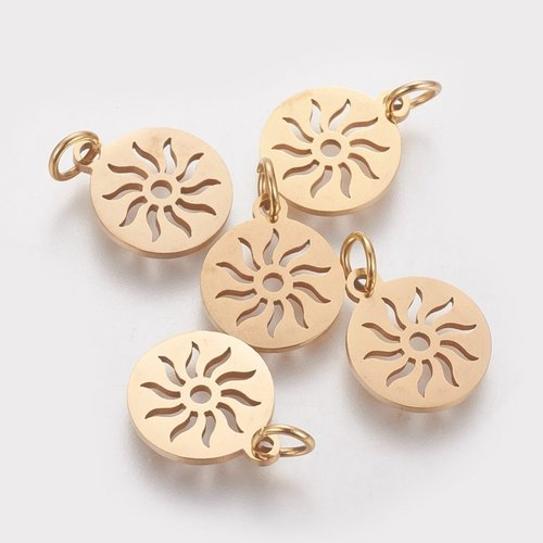 Stainless Steel Sun Charm 12mm