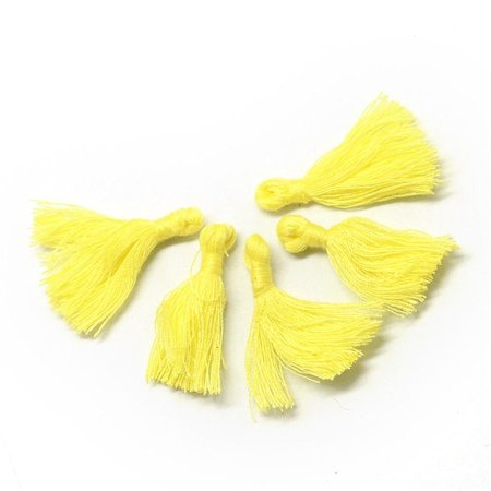 Tassel Yellow 30mm, 5 pieces