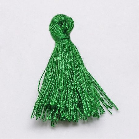 Tassel Green 30mm, 5 pieces