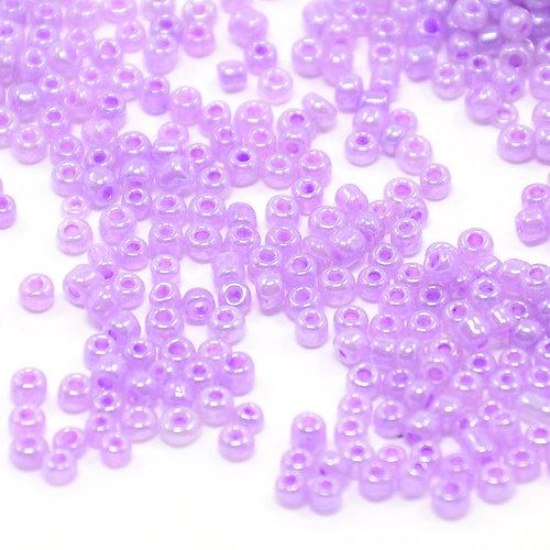 7 gram Seed Beads 2mm Purple Shine