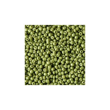 7 gram Rocailles 2mm Olijf Groen