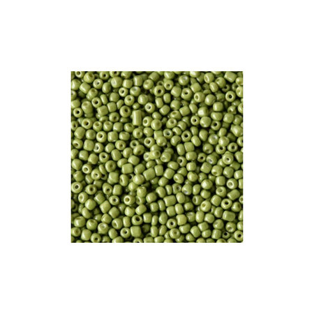 7 gram Seed Beads 2mm Olive Green