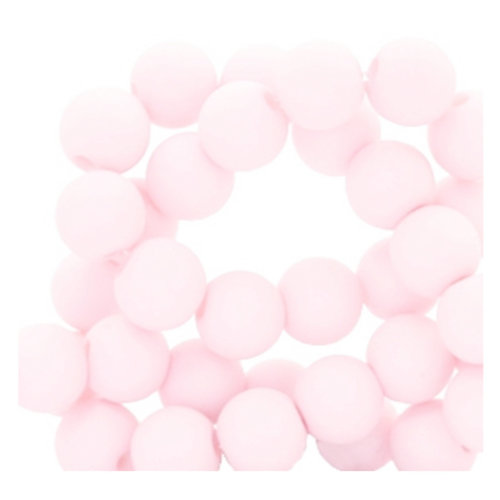 100 pieces Matte Baby Pink Acrylic Beads 6mm
