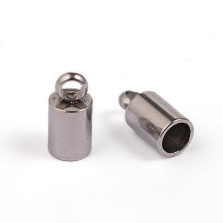 10 stuks Stainless Steel Eindkapje voor 3mm Koord