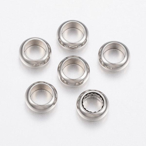 10 stuks Stainless Steel Spacer Beads Kralen 6x3mm Rijggat 4mm