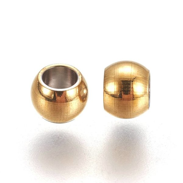 20 pieces Stainless Steel Spacer Beads Golden 4x3mm