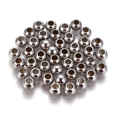 20 stuks Stainless Steel Spacers 6mm, rijggat 2.5mm
