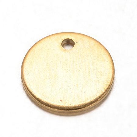 5 stuks Stainless Steel Muntje Bedel 8.5mm Goud