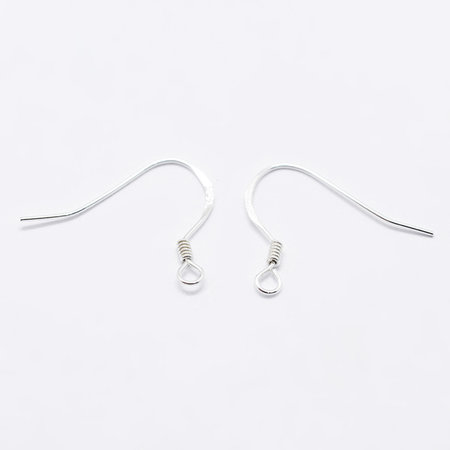 4 pieces 925 Sterling Silver Earring Hooks 15x18mm