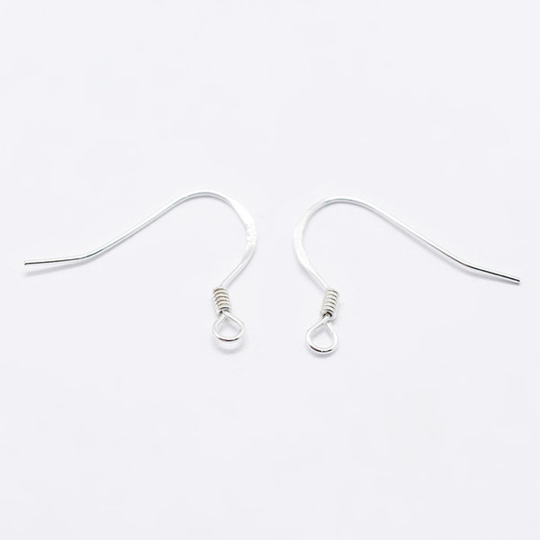 4 pieces 925 Sterling Silver Earring Hooks 15x18mm