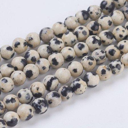 Dalmatiër Jaspis Kralen 6mm, streng 23 stuks