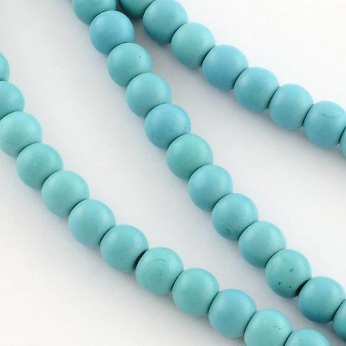 Gemstone Beads Turquoise 4mm, strand 85 pieces