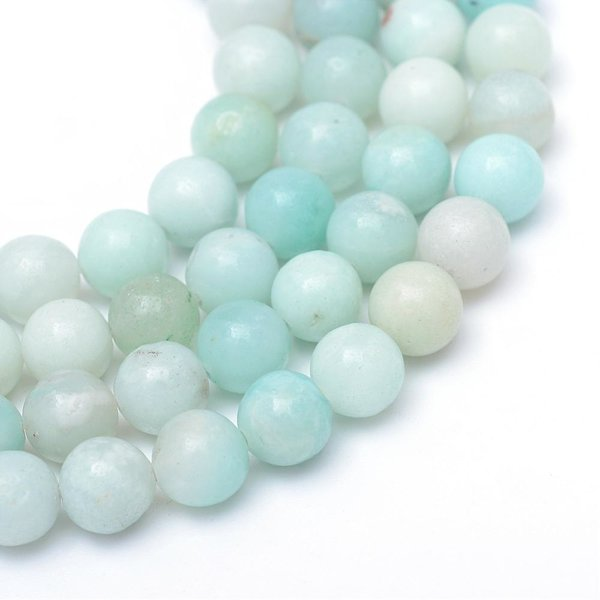 Natural Grade A Amazonite Gemstone Beads 8mm, strand 44 pieces